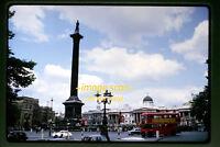 1965 London, England, Trafalgar Square & Bus, Original 35mm Slide a23a