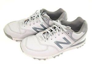 New Balance NBG574 Grey/Silver Men's Golf Shoes 8.5D