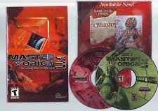Master of Orion 3-Juego de PC-rápido post-Edición Original jc con Manual-en muy buena condición
