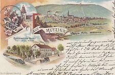 Mutzig, Farb-Litho mit Restauration Heydt, 1897