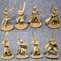 8Pcs/Set 28mm GOLD D&D Dungeons & Dragon Marvelous Miniatures War Game Figures