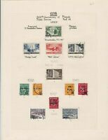 Finland 1938 Stamps on album page Ref 15131