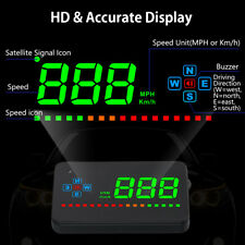 GPS HUD Head Up Display Auto Geschwindigkeit Speed Warnung Tachometer Universal~
