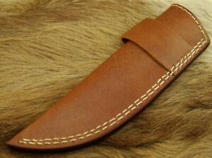 Alistar UK 21CM Handmade Brown Soft Cowhide Knife Leather Sheath Bushcraft (233