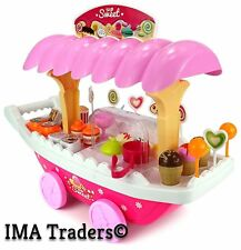 New Sweet Shop Luxury Candy Car ICE Cream Cart for Kids (Pink Color,37 Piece)