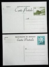 CARTES POSTALES MONACO - Yvert et Tellier n°35 et 36 de 1980/81 ss oblitér. (Y4)