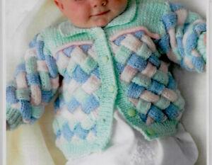 Jacket & Matinee Coat Baby Knitting Pattern DK 16-22'' A24