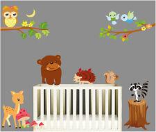 Wandtattoo Wandsticker Aufkleber Waldtiere Eule Bär Löwe Kinderzimmer Wohnzimmer