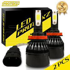 H8 H9 H11 Cree 2-Side LED Headlight Bulb Kit White 6000K w/ Anti Flicker Canbus