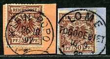 Togo V 50 d (2)  Briefstücke  Klein-Popo und Lome     gepr.   150,-