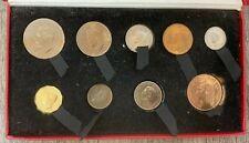 ROYAL MINT GEORGE VI 1950 BARE HEAD PROOF SET COINS ORIGINAL BOX.