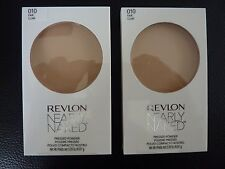 Revlon Nearly Naked Pressed Powder - FAIR # 010 - TWO - Both Brand New / Sealed