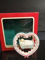 Carlton Cards 1991 Baby Girls 1st Christmas Dreams heirloom