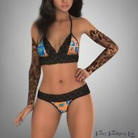 Florida Gators black lace top and g string lingerie