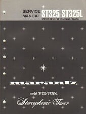 Marantz Service Manual ST325 ST325L stereo tuner receiver Original Repair Book