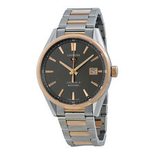 Tag Heuer Carrera Calibre 5 Anthracite Dial Stainless Steel Rose Gold Mens Watch