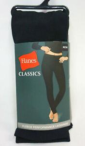 Hanes Black Fleece Performance Pants Leggings Women's Medium #54907