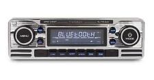 Calibre rmd120bt Cromo Coche Clásico Retro Aux estéreo Bluetooth A2dp Fm Usb Sd