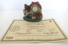 "All God'S Children 4"" Alaysha Girl W/ Toys Clock Figurine W/ Coa & Box"