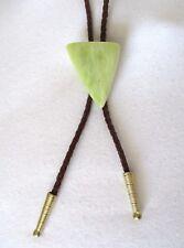 Naked Western Bolo Tie / Necklace. Lemon Jade Natural Gemstone.  Unisex.  NWT