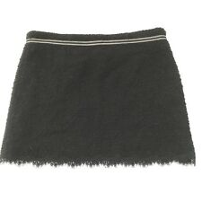 True Meaning Skirt Womens 4 Lace Wool Blend Boucle Mini Black Career Holiday