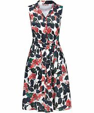 Jow Browns Sexy Floral Shirt Dress Size 8 BNWT RRP £43.95 Multi Uk Freepost