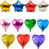 5 Pcs Party Heart Star Shaped Baloons Foil Helium Balloons Wedding Birthday 18''