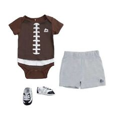 RBX Baby Unisex 3 PIECE (3-6 Months) FOOTBALL Bodysuit, Shorts, Shoes MSRP $28