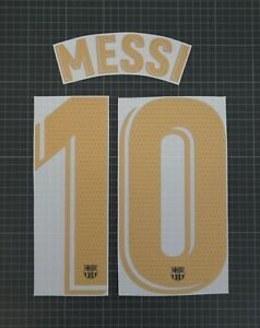 MESSI #10 2020-2021 Player Size La Liga Gold Away Nameset Barcelona