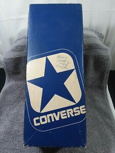 vintage converse ABA USA mens oxford white-red canvas 19610 size 9~BOX ONLY~