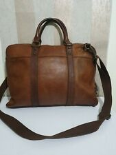 Fossil large brown leather laptop bag