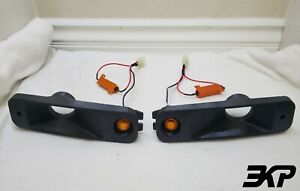 "1988-1889 Honda EF CIVIC / CRX Turn Signal Brake 2"" Duct Set | Amber LED | 3DFDM"