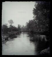 Francia Essonne Rivière c1900 Foto Negativo Placca Da Lente Vintage VrL7An19