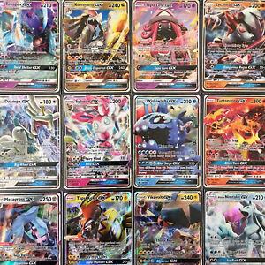 100 Pokemon Cards Premium Pack - with GUARANTEED GX +11 Rare & Rev Holos Cards!