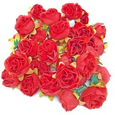 Rose Red Rose Bud Decorative Synthetic Flowers (Faux Silk) - UK SELLER