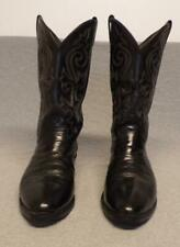"""Vintage Justin Western Cowboy Leather Riding boots men's 10.5Eee """"Made in Usa"""""""
