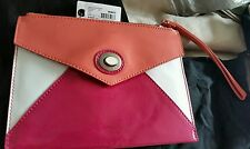 ♡♡♡BNWT Mimco Apricot Mix Envelope Leather wallet purse clutch Hand Bag $149.00