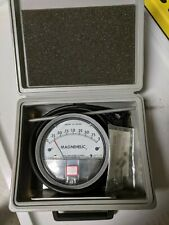 Dwyer Magnehelic 0 to 2 inches of water, maximum pressure 15 psig. Catalog # 20