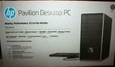 HP 590-p0033w Pavilion Desktop i3-8100 3.6GHz 4GB RAM 1TB HDD Win 10 FREE SHIP!!