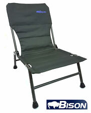 BISON CARP CHAIR ADJUSTABLE FISHING CHAIR & CAMPING CARAVANING CHAIR