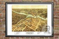 Old Map of Peshtigo, WI from 1871 - Vintage Wisconsin Art, Historic Decor