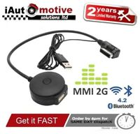 Audi VW Bluetooth Music Streaming Adapter iPod Media Interface Cable MMI 2G Lead