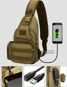 Protector Plus Tactical Sling Chest Pack Bag Molle Daypack iPad Mini Military