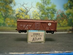 ATLAS N SCALE #2363 40' SGL DOOR WOOD BOX CAR PENNSYLVANIA #39557