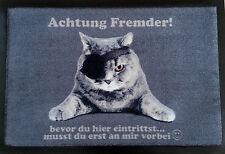 Fußmatte Türmatte Katzen Cats Piraten Katze Bodenmatte Achtung Fremder!