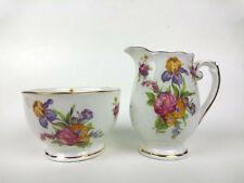 Roslyn china Sugar Bowl and Creamer Rosemary pattern England