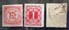 Österreich Portomarken 3 Stück Ziffern Postfrisch