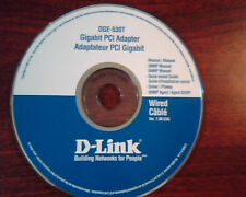 CD DGE-530T Gigabit PCI Adapter D-LINK Wired Cable Ver 7.00 Manual Guide Driver