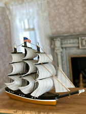Vintage Miniature Dollhouse 1:12 Artisan Made Nautical Model Sailing Ship Wood