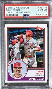 MIKE TROUT 2018 Topps Update 1983 #83-42 PSA 10 Gem Mint RC